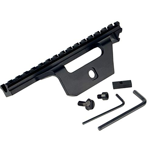Sparwod Scope Mount, Tactical Locking M14 Scope Mount,Lightweight Durable Aluminum Material Sight Support for Rifle Hunting 20MM Mount