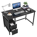 GIKPAL Escritorio de Computadora, Mesa de Ordenador Escritorio Estructura de Acero con Cajón, Mesa de Estudio Portátil...