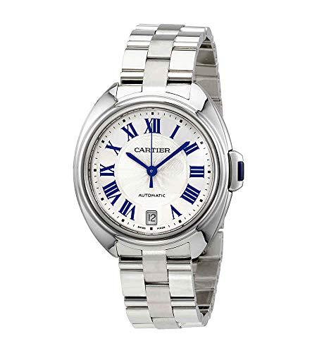 Cartier CLE automático Plata Dial Damas Reloj wscl0006
