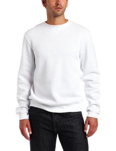 Soffe Men's Crew Neck Sweatshirt, White, Medium
