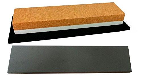 Messer-Schärf-Set / 3L / Schleifstein Korund FEPA 120/280 + behandeltes Abziehleder