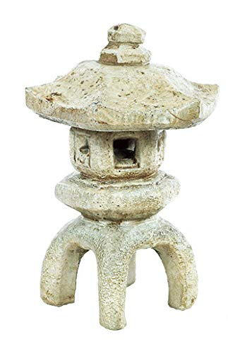Solid Rock Stoneworks Japanese Lantern Concrete 17in Tall 2pc Buff Color