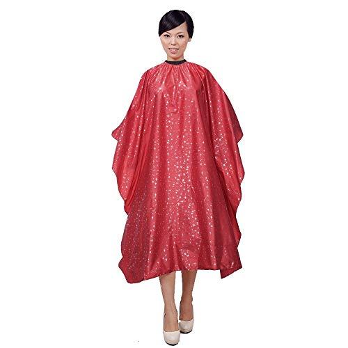 NOBRAND JFCUICAN Werkzeugschürze Friseurumhang zum Schneiden von Haaren, wasserdichtes Tuch, rot, One Size