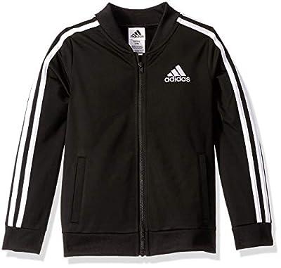 adidas Girls' Big Kids Tricot Bomber Jacket, adi Black, M