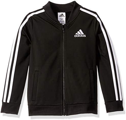 adidas Girls Big Kids Tricot Bomber Jacket adi Black Large product image