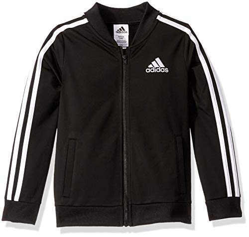 adidas Girls' Big Kids Tricot Bomber Jacket, adi Black, Large
