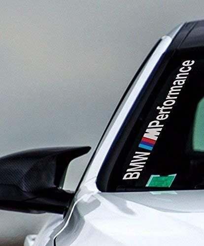 myrockshirt Kompatibel für BMW M Performance Windschutzscheibe 50 cm Aufkleber