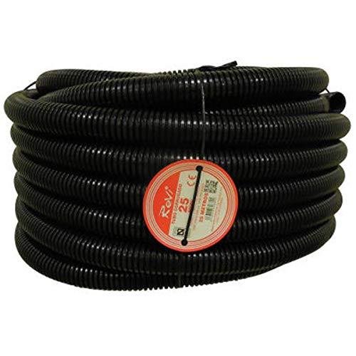 Tubo corrugado 25mm 25m【IGNIFUGO】No propagador de llamas • Tubos corrugados flexibles para cables electricidad • 25 metros • PVC de Calidad