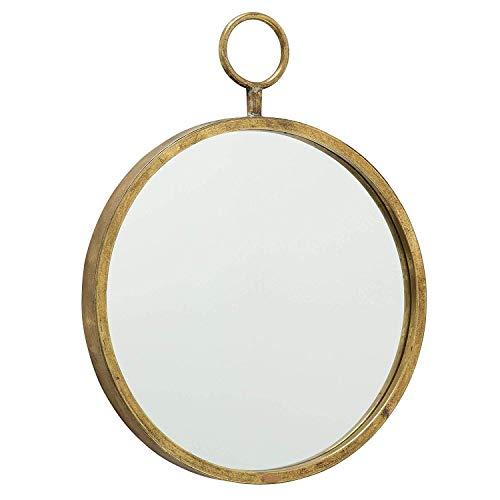 Immo Massiccio Specchio Muro Ferro Oro Prado Tondo D40cm Specchio Arrotondato