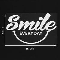 車のステッカーとデカール 15.7 × 9.4 センチメートル笑顔日常自己粘着防水デカールラップトップスケートボード車 DIY デカール (3 個)