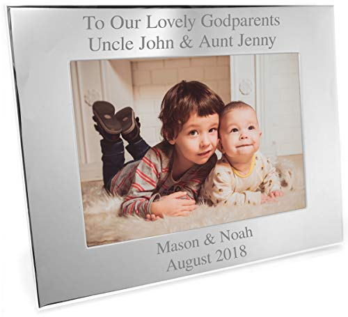 Go Find A Gift Personalised 6x4 Silver Plated Landscape Photo Frame - Any...