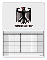TooLoud Bundeswehrロゴwithテキスト空白カレンダーDry Erase Board ホワイト