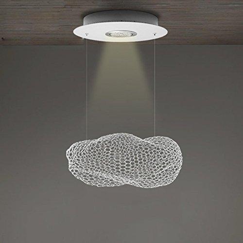 Maniny Designer's Lampe Nordic Creative Metal Deckenleuchte Cafe Dining Hand gewebt Aluminium Seide Baiyun Kronleuchter minimalistische LED Kinder Zimmer Wolke Anhänger Lampen, Size