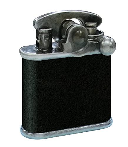 コリブリ フリントオイルライター ニッケルバレル革巻き黒
