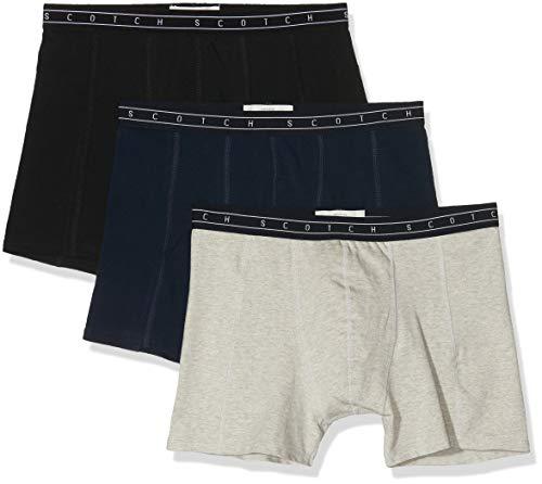 Scotch & Soda Herren underwear 3 pack Boxershorts, Mehrfarbig (Combo A 0217), Large (Herstellergröße: L) (3er Pack)