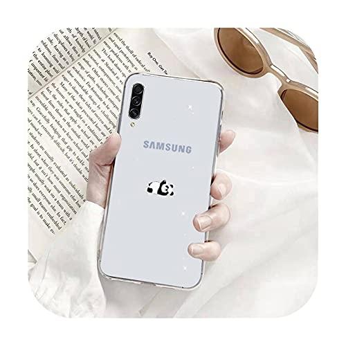 Panda lindo dibujos animados Teléfono Carcasas Transparente para Samsung A71 S9 10 20 HUAWEI p30 40 honor 10i 8x xiaomi note 8 Pro 10t 11-a4-honor 10i