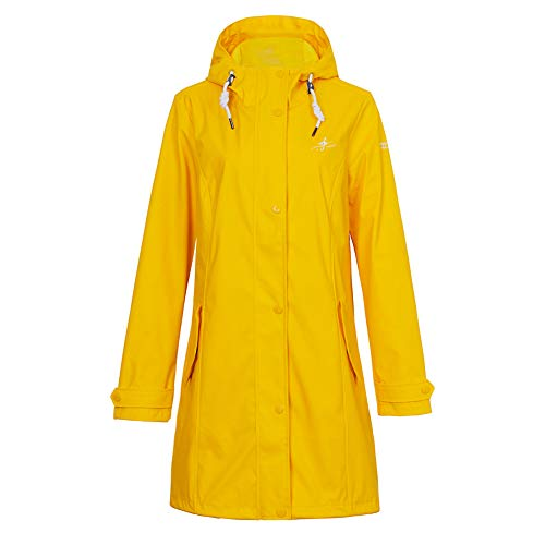 S.IKRR Dingy Weather regenjas voor dames, licht gevoerd, regenjas, softshelljack, frisennerz PU-windbreaker, waterdicht, parka met capuchon