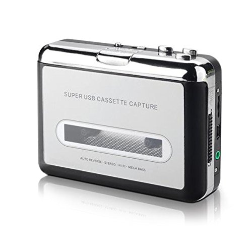 IIEasy Portable Mini USB Audio Cassette Tape-to-MP3 Converter Player Adapter with USB Cable and Software Cd Also Features Auto Reverse - FOR PC