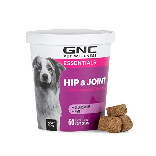 GNC Pets Essentials Hip & Joint Supplement for Dogs | 60 ct Soft Chew Hip Joint Supplement Soft...