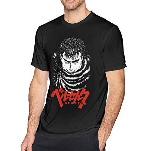 Wekrust Anime Berserk Guts Men's Short Sleeve T-Shirt,Black,X-Large