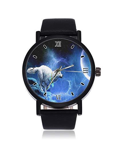 Wolf in Hot Pursuit Ultradünne Herren Damen Armbanduhr Business Casual Sport Quarzuhr für Damen Herren Wasserdicht Unisex Uhr