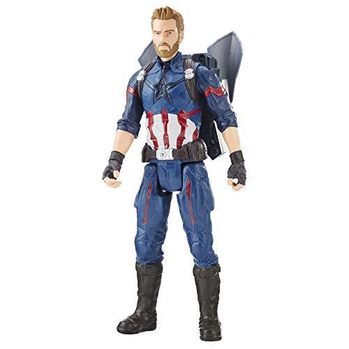 Avengers Boneco Capitão América e Acessório Vingadores Guerra Infinita Vermelho/Branco/Azul