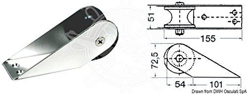 OSCULATI Musone di Prua Inox 155 x 51 mm
