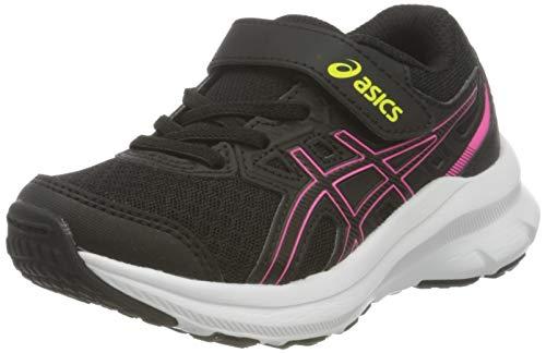 ASICS Jolt 3 PS Road Running Shoe, Black/Hot Pink, 33.5 EU