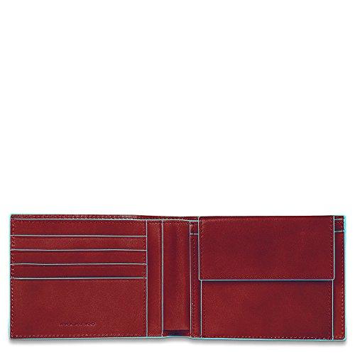 Piquadro Blue Square Münzbörse, 0.43 liters, Rot (Rosso)