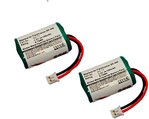 ZZcell 2-Pack Battery For SportDog 650-058 / DC-17 KINETIC MH120AAAL4GC Dogtra FieldTrainer SD-400, SD-800 Receiver SD-400S Dog Collar 150mAh