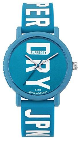 Superdry Unisex Erwachsene Analog Quarz Uhr mit Silikon Armband SYLSYL196UW