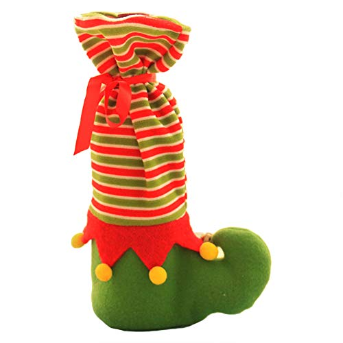 Bodhi2000 Chaussettes de Noël Bouteille de Vin Housse Candy Sac Elfe de Coffre de Noël Décoration de Table Festival Décorations de fête