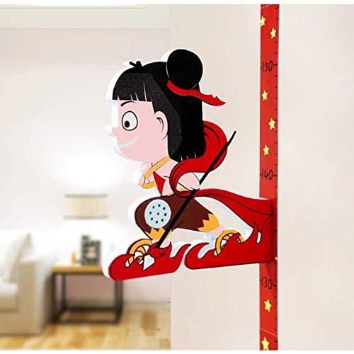 3D driedimensionale muurstickers lengte van kinderen hoeveelheid cartoon hoogte stickers kindje heerser meetinstrument kan opnemen verwijderd,1