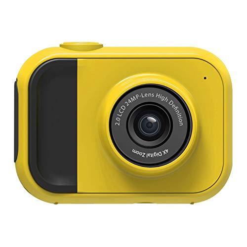 ZYJ Kinder Kamera, 1080P High-Definition-Sport-Kamera, Digitale Mini Erwachsene Kinder Digitalkamera, Eingebaute Mini-Spiele,Gelb