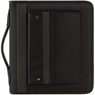 FranklinCovey Classic Friday Nylon Zipper Binder with Handles - Black