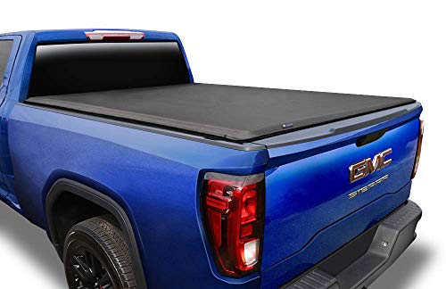 "Tyger Auto T1 Soft Roll Up Truck Bed Tonneau Cover for 2007-2013 Chevy Silverado / GMC Sierra 1500; 2007-2014 2500 HD 3500 HD Fleetside 6'6"" Bed TG-BC1C9004,Black"