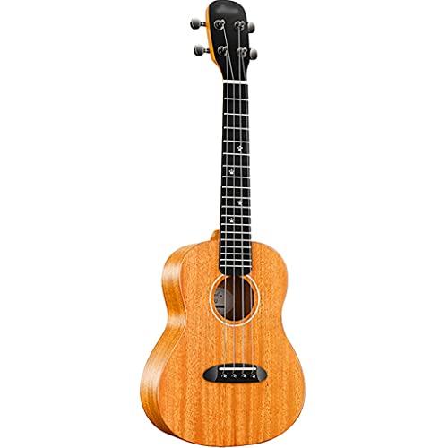 Ukelele Soprano Pequeño ukelele portátil, Guitarra pequeña de 4 cuerdas de 23 pulgadas con bolsa de piano, Lindo instrumento de cuerda con decoración de punto de tono ( Color : C , Size : 23 inches )
