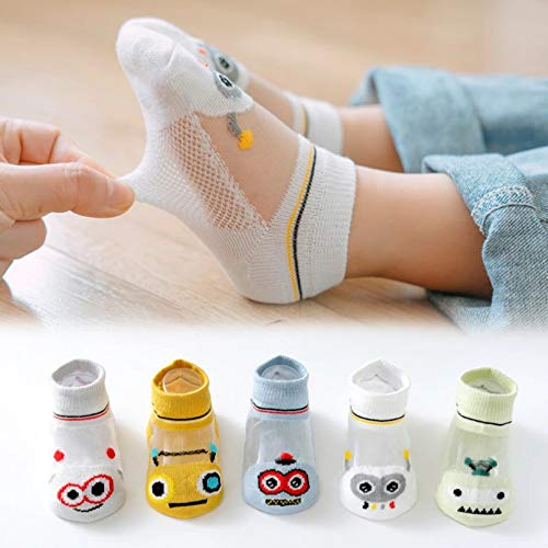 MIWNXM 10 Pares Infant Baby Socks Summer Thin Mesh Baby Socks For Girls Boy Cotton Newborn Toddler Kids Clothes Accessories