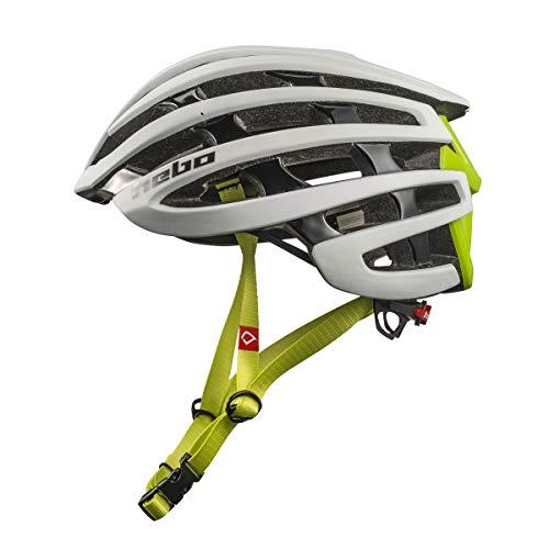HEBO Casco Bici Core 1.0, Adultos Unisex, Blanco y Verde, L.XL