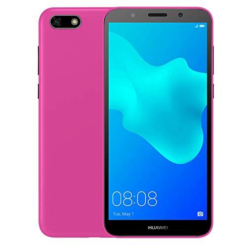 TBOC® Funda de Gel TPU Rosa para Huawei Y5 2018 - Y5 Prime 2018 (5.45 Pulgadas) de Silicona Ultrafina y Flexible [No es Compatible con el Huawei Y5 2017]