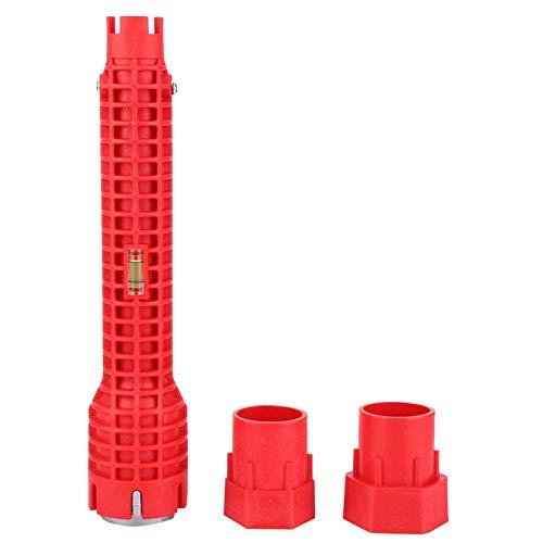 Llave para tubos de agua duradera para usar níquel-cromo con 2 piezas de 1/4 pulg. 1/2 pulg. Para piezas de montaje 3/4 pulg. Para lavabos de montaje 3/8 pulg.