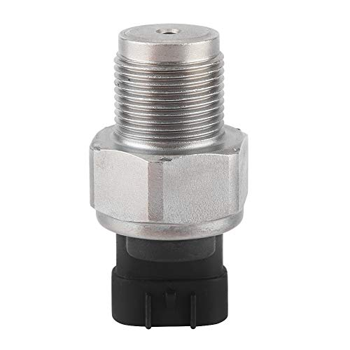 Sensor de presión de combustible, sensor de presión de combustible de carril común diésel resistente OEM 89458-71010 de hierro y material ABS para D4D 3.0L