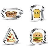Azflyife Cookie Cutters Hamburger,...