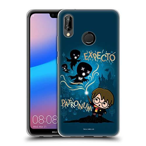 Head Case Designs Officiel Harry Potter Expecto Patronum Deathly Hallows III Coque en Gel Doux Compatible avec Huawei P20 Lite