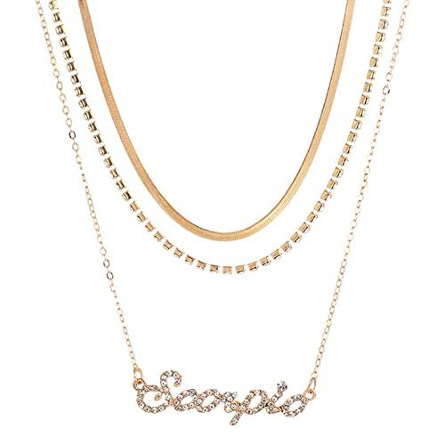 3 collares, collar de tres piezas, para mujer Y2K a la moda, collares de múltiples capas, hacen que tu cuello sea más sexy y encantador