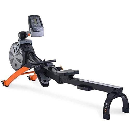 WJFXJQ Folding casa Vogatore, Vogatore Fitness Cardio Workout con Resistenza Regolabile, Monitor LED, Adatto for Ufficio, Balcone, Palestra