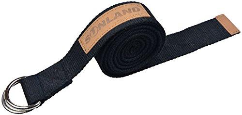 SUNLAND Correa para yoga ,Cinturón para estiramientos,negro,244cm