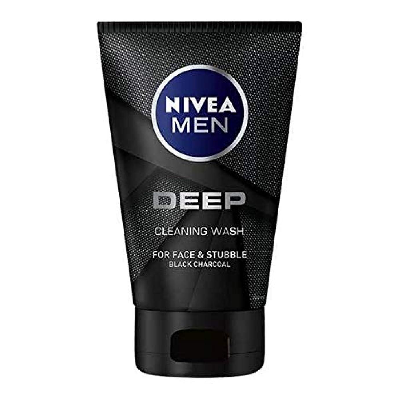 滑り台メーカーほぼ[Nivea] 男性の深い顔ウォッシュ100ミリリットル用ニベア - NIVEA For Men Deep Face Wash 100ml [並行輸入品]