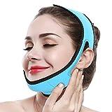 Adelgazante Facial Faja Vendajes Máscara para Adelgazar Cara Piel Reafirmante Papada Reductor y...