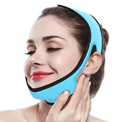 Adelgazante Facial Faja Vendajes Máscara para Adelgazar Cara Piel Reafirmante Papada Reductor y Antiarrugas cuidado facial piel compacto V-line